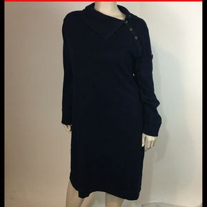 LRL Ralph LAuren 3X Sweater Dress Navy Blue